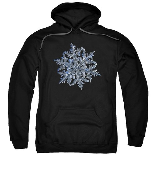 Snowflake Macro Photo - 13 February 2017 - 3 Black Sweatshirt