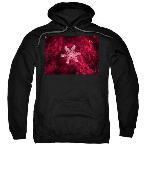 Snowflake On Red Sweatshirt