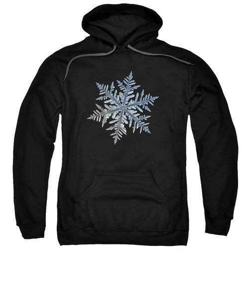 Snowflake Photo - Silverware Sweatshirt