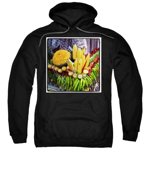 Sweatshirt featuring the photograph So, Elephants Eat Red Hot Chile by Mr Photojimsf