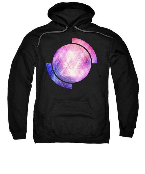 Soft Modern Fashion Pink Purple Bluetexture  Soft Light Glass Style   Triangle   Pattern Edit Sweatshirt