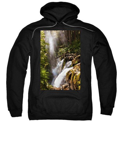 Sweatshirt featuring the photograph Sol Duc Falls by Adam Romanowicz
