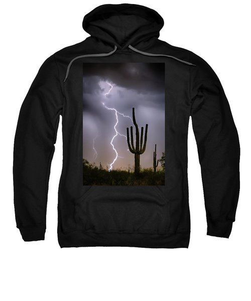 Sweatshirt featuring the photograph Sonoran Desert Monsoon Storming by James BO Insogna