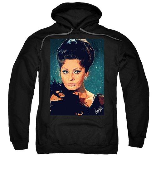 Sophia Loren Sweatshirt by Taylan Apukovska