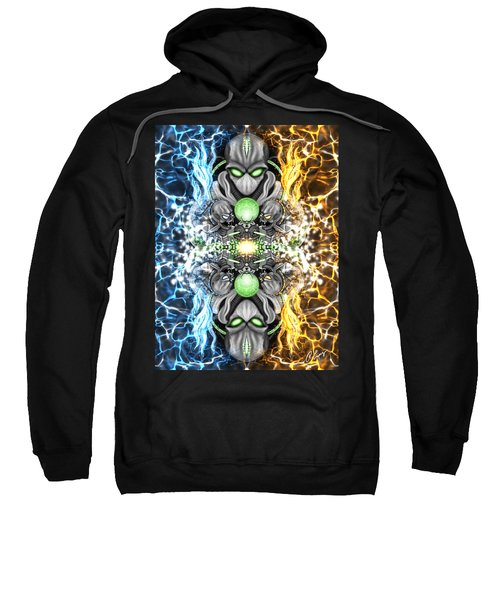 Space Alien Time Machine Fantasy Art Sweatshirt