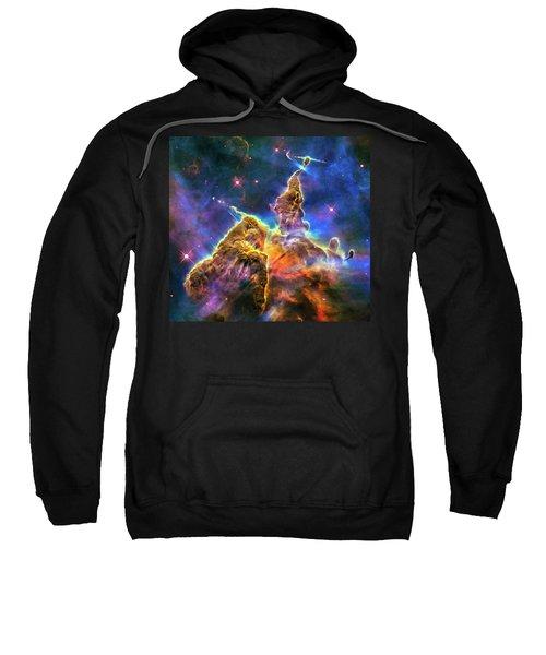 Space Image Mystic Mountain Carina Nebula Sweatshirt by Matthias Hauser