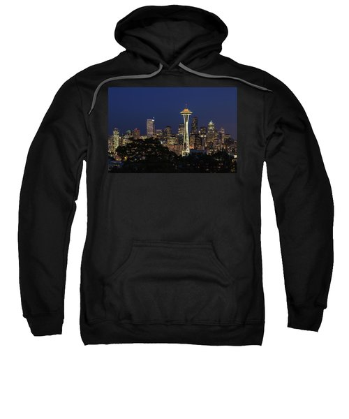 Sweatshirt featuring the photograph Space Needle by David Chandler