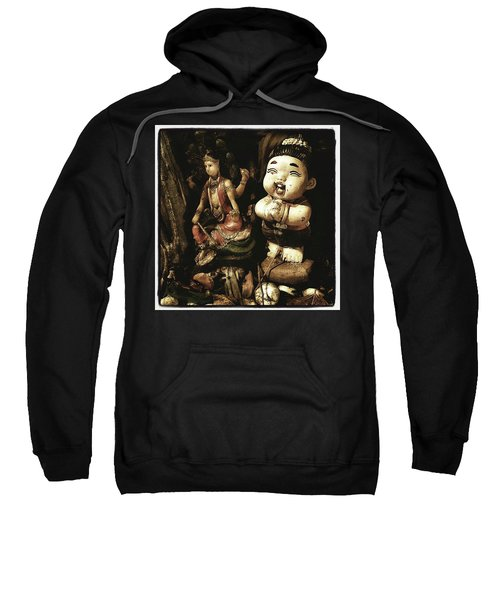 Sweatshirt featuring the photograph Spirit Cemetery. When A Business Or by Mr Photojimsf