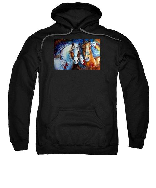 Spirit Indian War Horses Commission Sweatshirt
