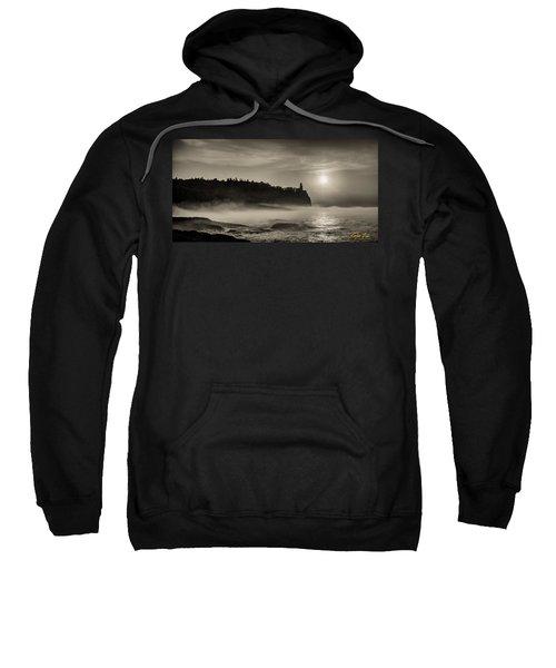 Split Rock Lighthouse Emerging Fog Sweatshirt