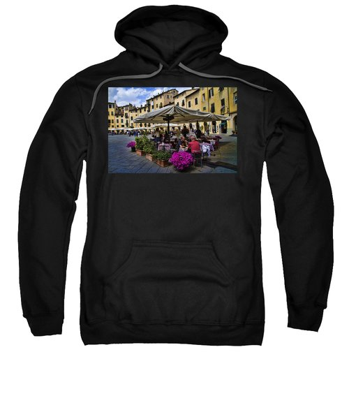 Square Amphitheater In Lucca Italy Sweatshirt