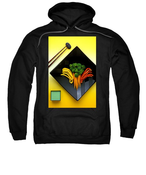 Square Plate Sweatshirt by Garry Gay