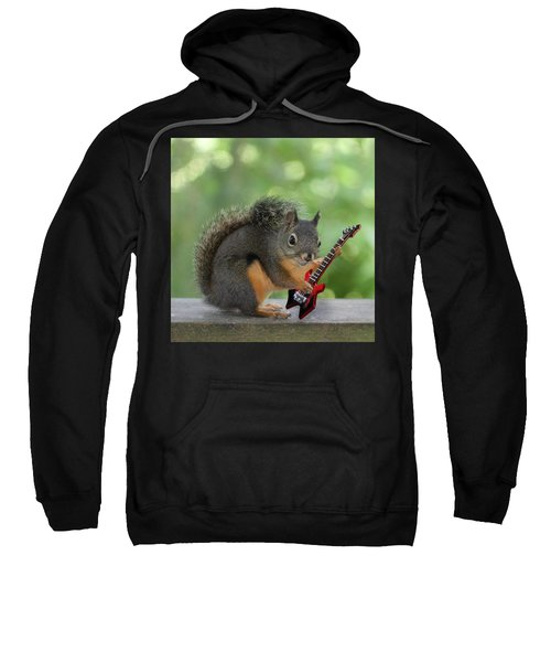 Squirrel Playing Electric Guitar Sweatshirt