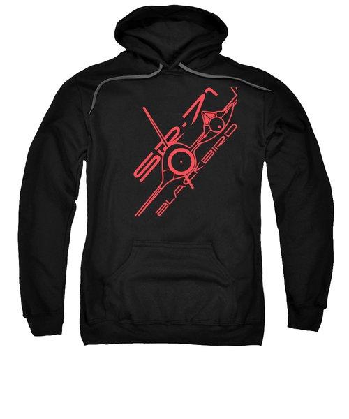 Sr-71 Blackbird Sweatshirt by Ewan Tallentire