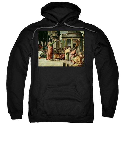 St. Paul Preaching At Athens  Sweatshirt