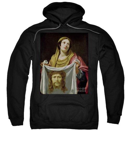 St. Veronica Holding The Holy Shroud Sweatshirt