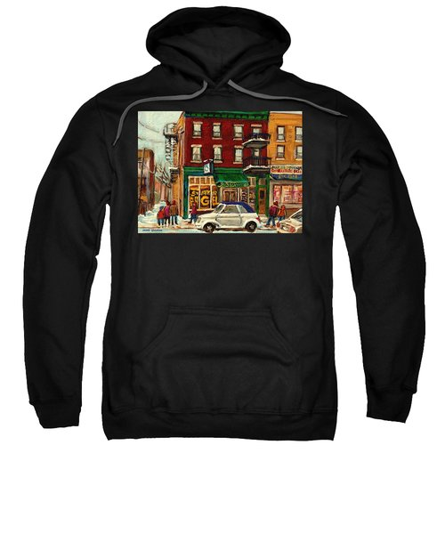 St Viateur Bagel And Mehadrins Deli Sweatshirt