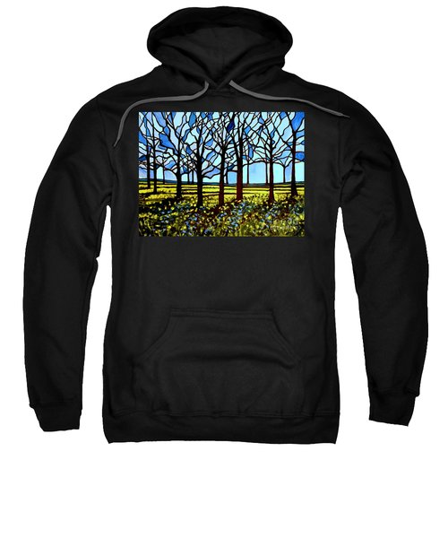 Stained Glass Trees Sweatshirt