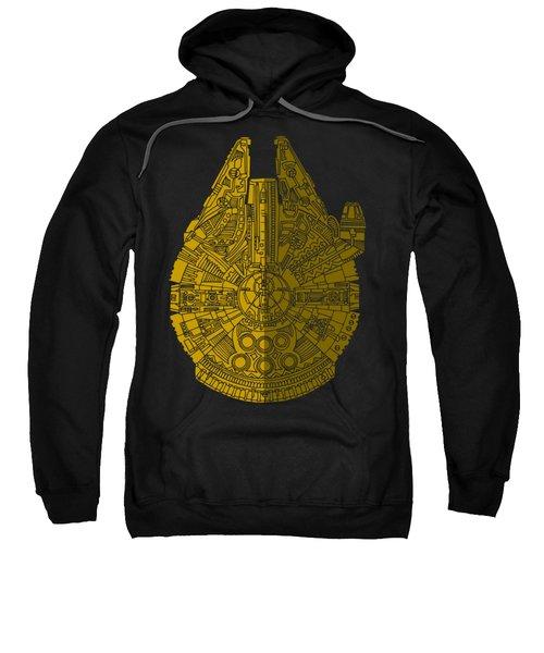 Star Wars Art - Millennium Falcon - Brown Sweatshirt by Studio Grafiikka