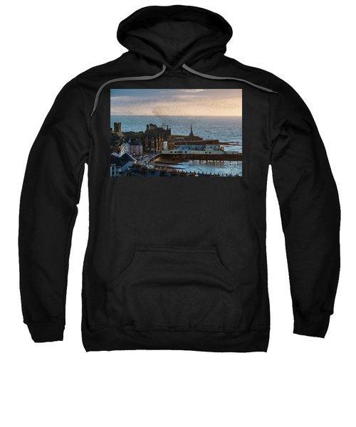 Starlings Over Aberystwyth On The West Wales Coast Sweatshirt