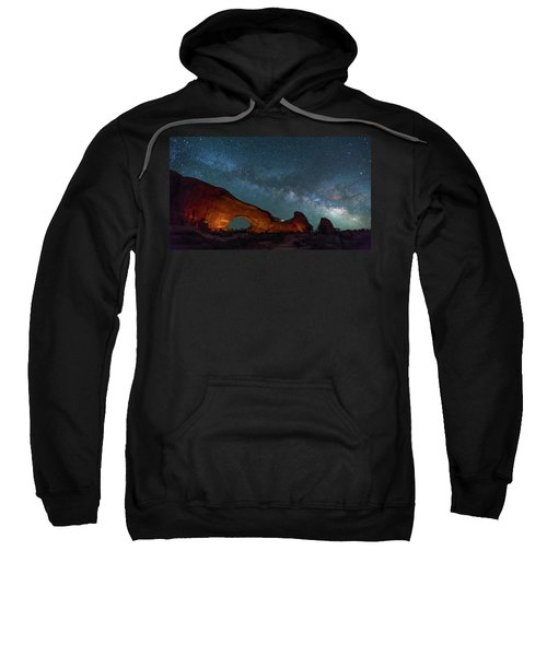 Starry Night At North Window Rock Sweatshirt