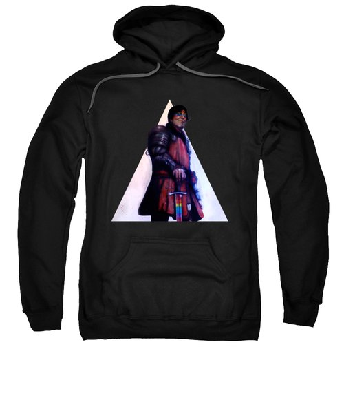 Stephen Fry As A Powerful Gay Knight With Rainbow Sword  Original Available Sweatshirt