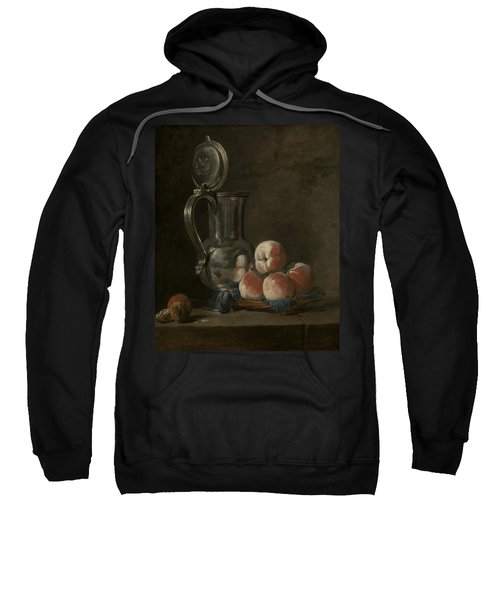 Still Life With Tin Pitcher And Peaches  Sweatshirt