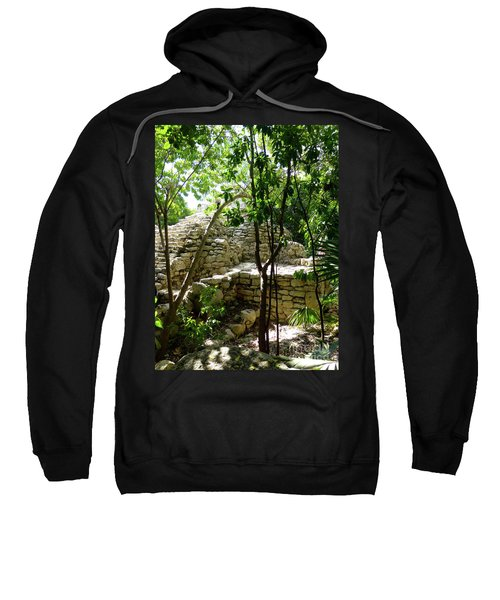 Sweatshirt featuring the photograph Stone Steps In The Jungle by Francesca Mackenney