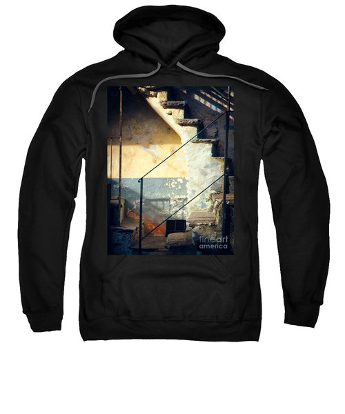 Sweatshirt featuring the photograph Stone Steps Outside An Old House by Silvia Ganora