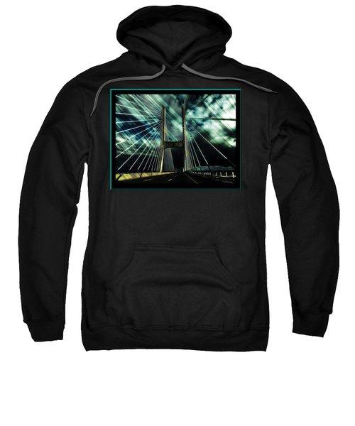 Storm Over The Bridge  Sweatshirt