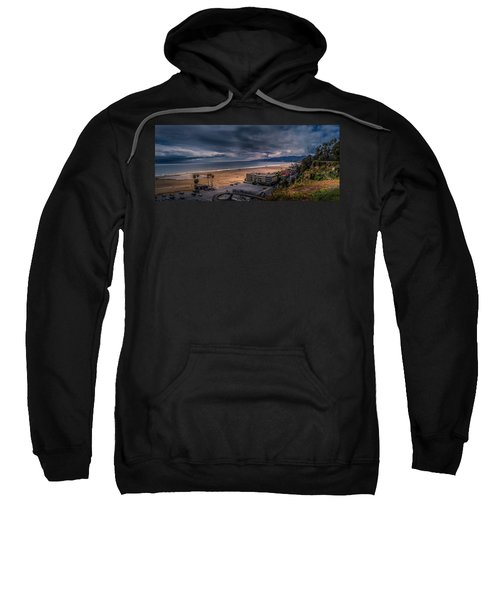 Storm Watch Over Malibu - Panarama  Sweatshirt