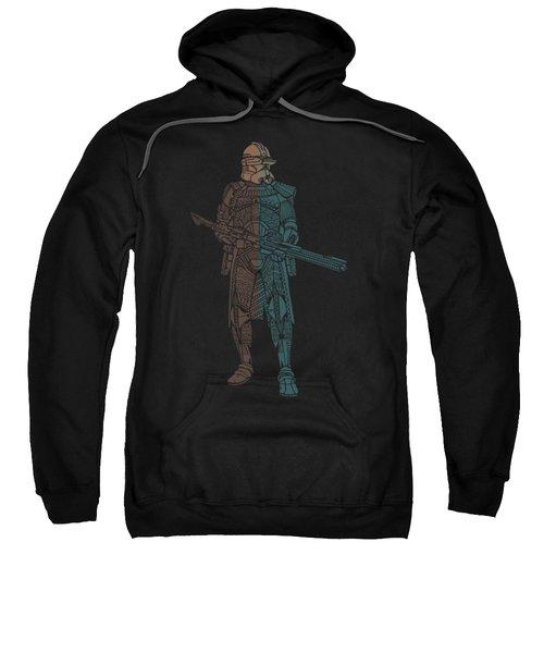 Stormtrooper Samurai - Star Wars Art - Minimal Sweatshirt