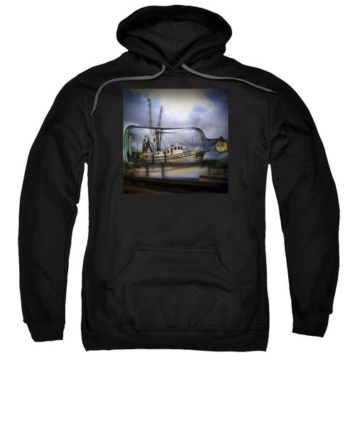 Sweatshirt featuring the photograph Stormy Seas - Ship In A Bottle by Bill Barber