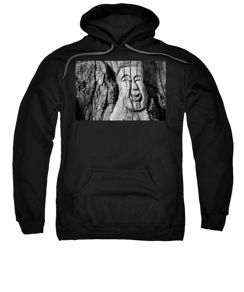 Sweatshirt featuring the photograph Stump Face 3 by Stephen Holst