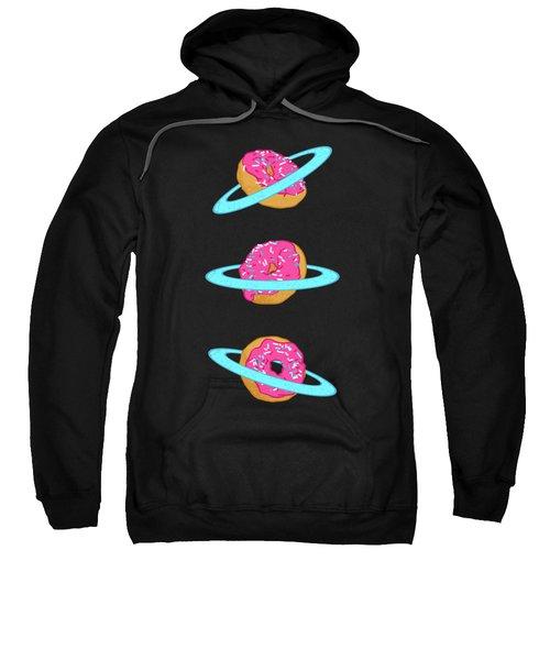 Sugar Rings Of Saturn Sweatshirt by Evgenia Chuvardina