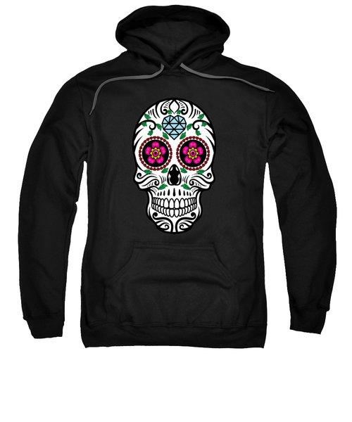 Sugar Skull Floral Skull Sweatshirt