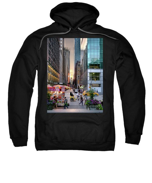 Summer Evening, New York City  -17705-17711 Sweatshirt