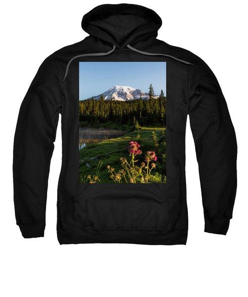 Summer Morning At Mt Rainier Sweatshirt