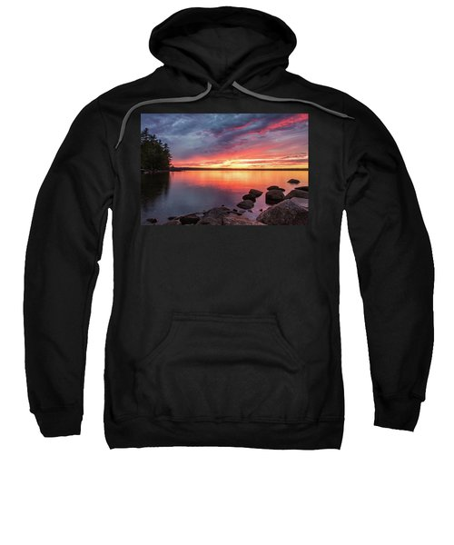 Summer Sets Over Sebago Lake, Maine Sweatshirt