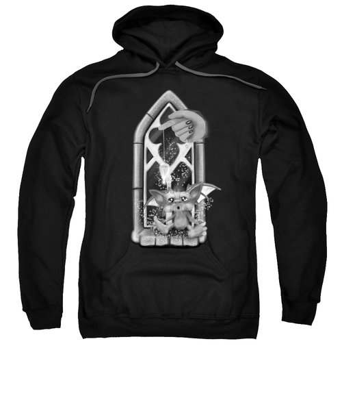 Summoned Pet - Black And White Fantasy Art Sweatshirt