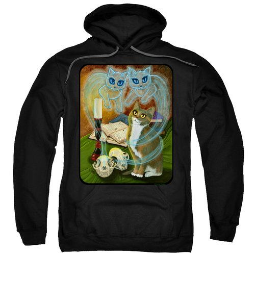 Summoning Old Friends - Ghost Cats Magic Sweatshirt