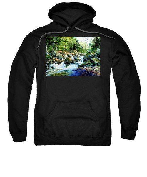 Sweatshirt featuring the painting Sunfish Creek by Hanne Lore Koehler