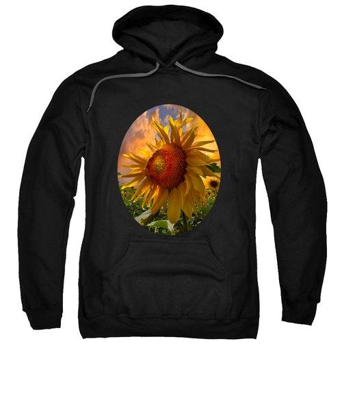 Sunflower Dawn In Oval Sweatshirt