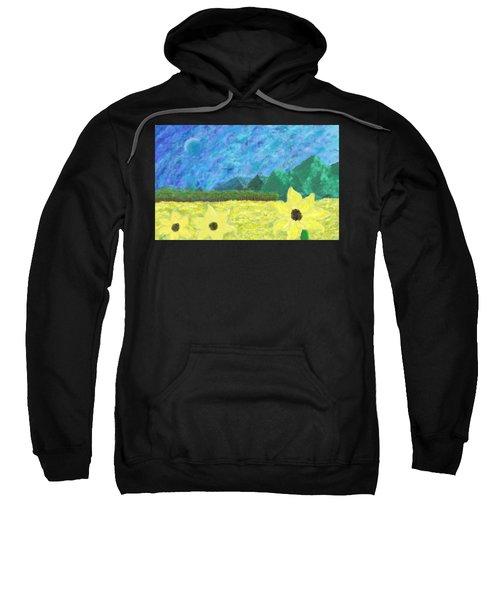 Sunflower Field In Fall Sweatshirt