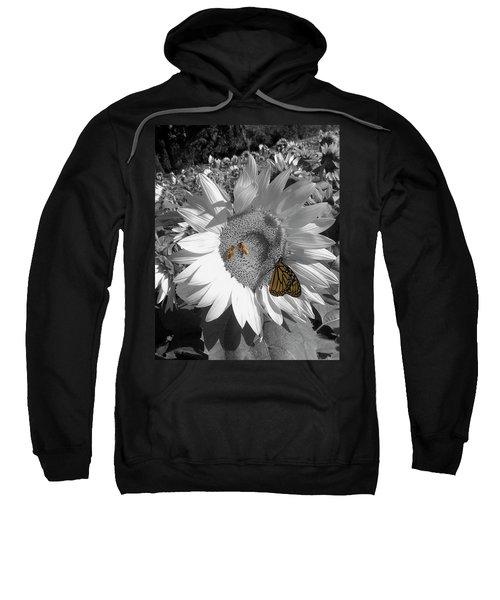 Sunflower In Black And White Sweatshirt