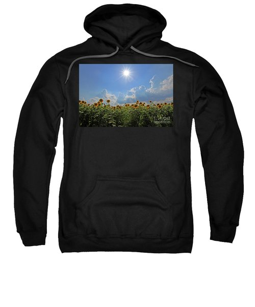 Sunflowers With Sun And Clouds 1 Sweatshirt
