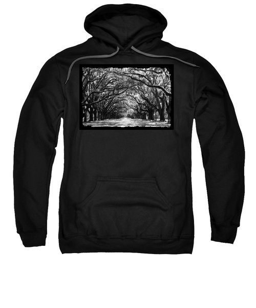 Sunny Southern Day - Black And White With Black Border Sweatshirt