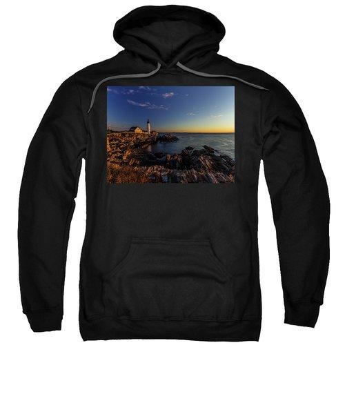 Sunrise At Portland Headlight Sweatshirt