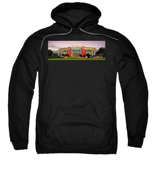 Sunrise Panorama Of George R Brown Convention Center In Downtown Houston - Texas Sweatshirt