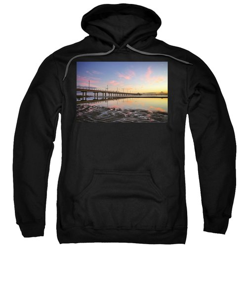 Sunrise Reflections At The Shorncliffe Pier Sweatshirt